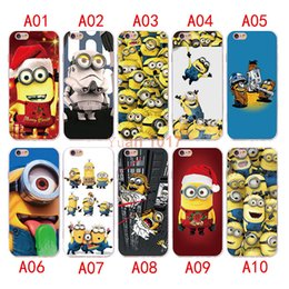 Wholesale Cute Silicone Lg Phone Cases - New style Cute-Minions Case For iPhone 7 6 6S plus Silicone Cover Case Luxury Ultra Thin Soft TPU For iPhone 5 4 se Mobile Phone bag