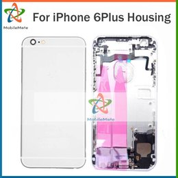 Wholesale Iphone Middle Frame Assembly - For iPhone 6 Plus 5.5 inch Complete Housing Battery Door Back Cover Middle Frame Assembly for iphone 6plus Free Shipping