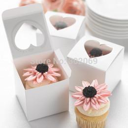Boîtes de petit gâteau en PVC simples en forme de cœur de fenêtre en PVC Nouveau style Boîtes de petit gâteau simples de style pour la fête 48pcs ? partir de fabricateur