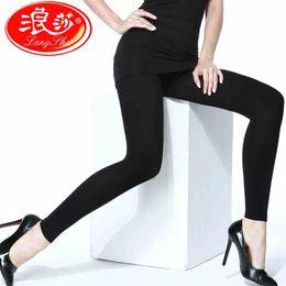 Wholesale Langsha Tights - Wholesale- Langsha No Foot Tights Plus Size Women Pantyhose 120D Big Size Pantyhose Velvet Girls Sexy Stockings 1 Pair Free Shipping