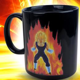 caneca cerâmica de mudança de calor Desconto Dragon Ball Z Saiyan Vegeta Cerâmica de Calor Cor Reactiva Mudança Caneca de Café Caneca de Cerâmica Caneca de Cerâmica KKA1777