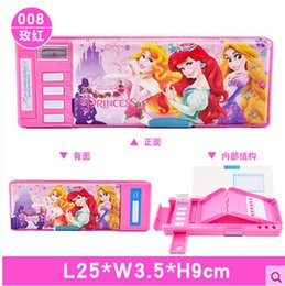 Wholesale Double Layer Box - Wholesale-tsum multifunctional automatic double layer pencil case box stationery