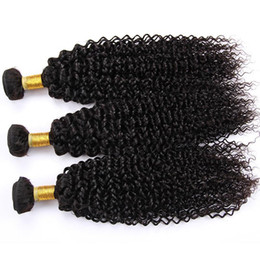 Wholesale Mongolian Kinky Curl Weave - Mongolian 4B 4C Human Hair Extension 8A Mongolian Kinky Curl Virgin Hair 3Pcs Afro Kinky Curly Human Hair Weave