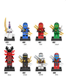 Wholesale Ninja Plastic Building Blocks Toys - 480pcs lot X0143 Super Heroes Ninja Pythor Jay Kai Zane NYA Cole Kozu Lloyd Samurai X Wermin Wu Building Blocks Children Gift Toys