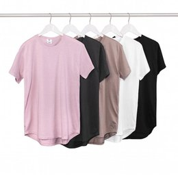 2019 swag camiseta rosa 2016 Unisex Summer Style Hip Hop camiseta con Extend Elongate Swag Streetwear Camisetas para hombres Mujeres Cotton Pink Tee Shirt rebajas swag camiseta rosa