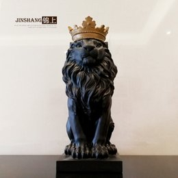Wholesale Brass Furniture Decoration - The crown lion of northern Europe is decorated in the decoration of furniture and wine cabinet office desk