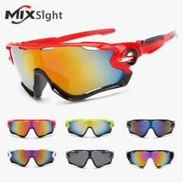 Wholesale Fashion Bicycle - New UV400 Cycling Eyewear Bike Bicycle Fashion Sports Glasses Hiking Men Motorcycle Sunglasses Reflective Explosion-proof Goggles