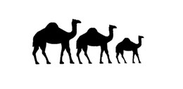 Wholesale Camel Cartoon - Thanksgiving Day Cartoon Camel Family Sticker For Car Window Truck Bumper Door Laptop Kayak motorcycles Vinyl Decal Camels