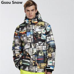 Wholesale Mens Winter Snow Suits - Wholesale- Gsou Snow brand mens ski suit Snowboard ski jacket men winter chaqueta esqui hombre warm waterproof veste ski homme jas heren