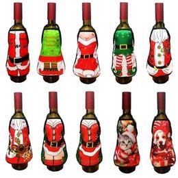tabliers drôles de cadeau de noël Promotion Mini bouteille de vin tablier couverture anniversaire de mariage anniversaire Noël drôle idée cadeau pour le dîner barbecue fête festive bar décoration 10 modèle