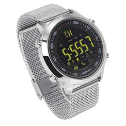 Wholesale Orange Sms Email - IP67 Waterproof EX18 Smart Watch Men Sport Watches Pedometer Bluetooth 4.0 Call SMS Reminder for Android ios Resistant Smart Watches