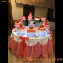 Wholesale Large Acrylic Display Stands - set of 11 Birthday Luxury Crystal Clear Circle Acrylic Round Cupcake Luxury birthday gift Large huge cake display shelf