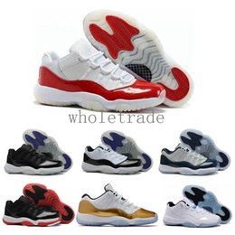 41ff5ecfa43e Free Shippin Womens XI 11 11s low space jam basketball shoes closing  ceremony varsity red legend blue gold white Sneakers Come With Box