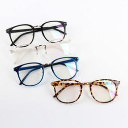 Wholesale Optical Glasses Womens - Wholesale-Fashion Unisex Tide Optical Glasses Womens Mens Round Frame Eyewear Eyeglasses UV Sunglasses
