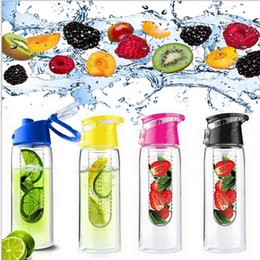 Wholesale Fruit Water Infuser - 700ml Cycling Sport Fruit Infusing Infuser Water Lemon Bottle Juice Bicycle Healthy Eco-Friendly BPA Free Bottle