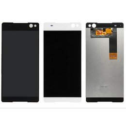 Wholesale Xperia Screen Replacement - white black LCD display Touch Screen Digitizer full Assembly replacement parts For Sony Xperia C5 Ultra E5506 E5533 E5563