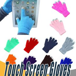 Wholesale Ipad Gloves Women - Warm Winter Multi Purpose Unisex Capacitive Half fingers Touch Screen Gloves Christmas Gift For iPhone iPad Smart Phone b1496