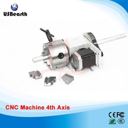 Wholesale Router Sales - TOP sale cnc router 4th axis K5M-6-100A hollow shaft Rotary axis with 100mm 3 jaw chuck