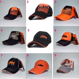 Wholesale Ktm Hats - he new KTM division horse racing team hat VR46 motorcycle cap outdoor sports baseball caps Article right K diagonal