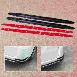 Wholesale Rubber Car Bumper Guards - Car SUV Auto Pickup 2pcs Carbon Fiber Rubber Front Rear Bumper Edge Protector Corner Guard Anti-rub Scratch Sticker