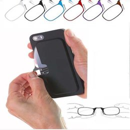 Wholesale Clear Reading - Universal Pod and +2.00 Reading Glasses Case Black with Clear Black Red Brown Blue Frame