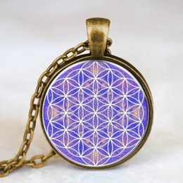 Wholesale Dr Charms - Wholesale- Steampunk Flower of Life Necklace Om Yoga Chakra Mandala Pendant Women Necklace Dr who 1pcs lot chain mens Sacred Geometry charm