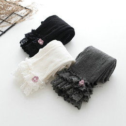 Wholesale Infant Tights Lace - Lace floral Baby Leggings Girls Baby Clothing Children Leggings Tights cotton Kids Leg Warmers Toddler Leggings Pants Infant Clothing A932