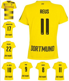 Wholesale Dortmund Jerseys - Borussia Dortmund jersey 2017 2018 new home and away Borussia Dortmund jersey Borussia Dortmund shirt in stock