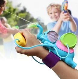 Wholesale Play Gun Game - 3pcs lot Blasts Up To 8 Meters Children Water Gun Play Fun Game Kid Bauble Animal Blue Elephant Toy Wrist Water Blaste Fight with Friend