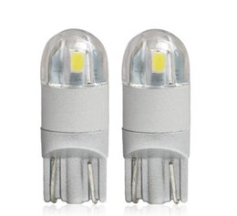 Wholesale Pink License Plate Lights - New 2 pcs T10 LED SMD 3030 Car lamps 168 194 Turn Signal License Plate Light Trunk Lamp Clearance Lights Reading lamp 12v 24v