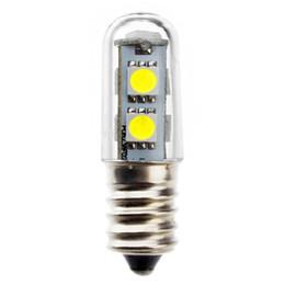Alta Calidad E14 1W 5050 SMD 7 LED Blanco Cálido Blanco Luces de Maíz Cama Frigorífico Lámpara de Vela Reflector Dormitorio Bombilla desde fabricantes