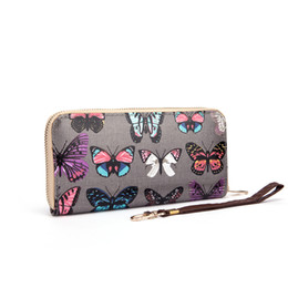 Wholesale Cheap Cell Phone Wallets - Clearance On Sale Brand Women Wallets Cartoon Clutch Bag Casual Colorful Cheap Credit Card Package Ladies Purse Long Preppy Style QQ1625