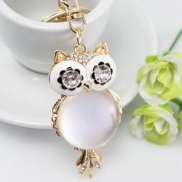 Wholesale Diamond Key Chain Crystal - Newest CZ Diamond Key Rings For Women Men Gold Plated Crystal Keychains High Quality Bag Buckle Car Pendants Key Chain Fashion Jewelry Gift