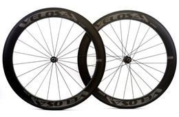 Wholesale Bike Carbon Wheels Sale - VELOSA!Hot sale 700C 60mm depth road bike Full carbon wheels 25mm width Clincher Tubular road bicycle carbon wheelset with Straight pull hub