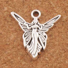 Wholesale Antique Letters - Solar Angel Wings Charms Pendants 200pcs lot Fashion 20.2x19.3mm MIC Antique Silver Jewelry DIY L194