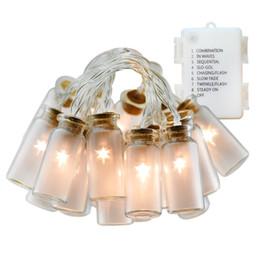 Wholesale vintage glass bottles - 7.2ft 20 LED Vintage Glass Jar Led String Lights Fairy Lights 3*AA Battery Operated Christmas String lights bottle lights Warm White Light