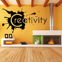 Wholesale Diy Removable Word Wall Stickers - Creativity Wall Lettering Words Removable Room Personality Fashion Funny Decal Vinyl Quote Diy Art Sticker Decor Graphics