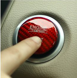 Wholesale Black Start Engine - Car Styling Carbon fiber Engine Start Button cover for Mercedes Benz C GLC W205 X253 C63 red black car-styling