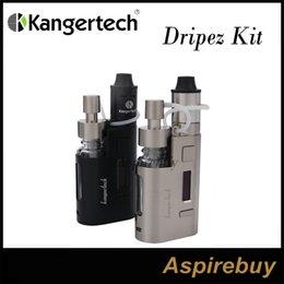 Wholesale Posting Kit - Kanger Dripbox EZ Kit Drip EZ RBA Tank and Drip EZ 80W TC Mod Unique Juice Pump Delivery System Replaceable Bottle Two Post Deck 100% Genius
