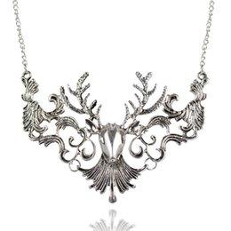 Wholesale Vintage Elk - Christmas Gift Fashion Vintage Antique Elk Deer Long Maxi Necklaces & Pendants Statement Jewelry Women Necklace Collier femme