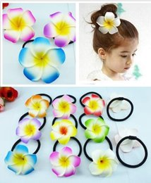Wholesale Middle East Flowers - DIA (4.5.6.7.8.9.11CM) Assorted Hawaiian Plumeria flower Frangipani Flower bridal hair band 100PCS