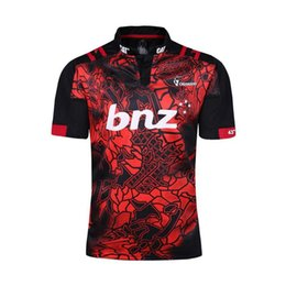 Wholesale Best New Homes - Top Thai quality 2016 New Zealand Super Rugby Crusaders 2017 home rugby jerseys 2017 2018 men best Crusaders rugby shirts size S-3XL