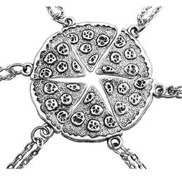 gioielli di pizza Sconti 2.5cm 6 pezzi / set Collana con pendente pizza Gioielli intercambiabili trendy 2 Stili Ultima collana pendente in metallo moda B367S