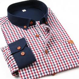 Wholesale Check Shirt Fashion Men - Wholesale- Famous Brand 2017 Men Shirts Men Fashion Long sleeve Checked Shirt Slim fit Male Plaid Casual Shirts High Quality Wholesale