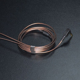 Wholesale Headphone Diy - KZ 1.2m Gold-plated 3.5mm 56 LC-OFC Copper core 3-pole Jack Headphone Audio Cable Earphones Maintenance Wire For DIY Earphones