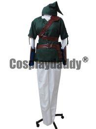 Wholesale Custom Zelda - The Legend of Zelda Link Cosplay Costume Outfit Uniform