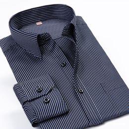 Wholesale Wholesale Mens Striped Shirts - Wholesale- Brand Cotton Men Shirt 5xl 6xl Mens Shirts Big Sizes Mens Dress Shirts Overhemd Camiseta Masculina Chemise Homme Manche Longue