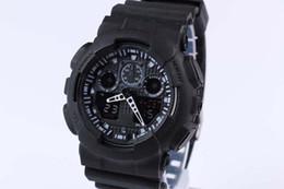 Relojes deportivos de plástico online-Relojes deportivos Promoción Hardlex Nueva llegada Plastic Unisex Retail Fashion G Watch, ga100 Time Zone Watch Relojes hgjff