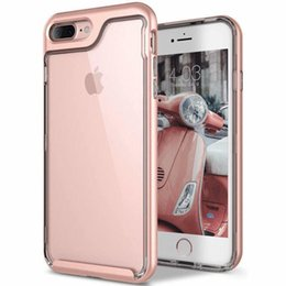 Wholesale Camera Phone Case Iphone - For iPhone 7 8 Plus Case Slim Transparent Shock Resistant Camera Protection Hybrid Clear Phone Case Cover For iphoneX 6 6s plus opp bag