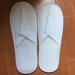 Wholesale Slippers Cheap Flat - Wholesale Hot sale cheap High qulity Disposable Slippers White Adult Hotel Babouche Travel Guesthouse free shipping